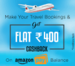 Easemytrip - Rs.400 Cashback on 4000 through Amazon Pay