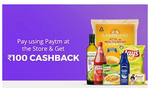 Flat Rs.100 Cashback when you pay using Paytm at Spencers Stores