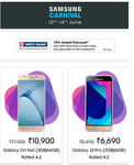 Samsung Carnival 12-14 June :- Great Deals on Samsung Smartphones + Additional 10% instant discount using HDFC Cards