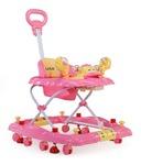 Luvlap Comfy Baby Walker with Adjustable Height & Rocker - Pink