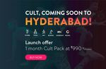 Cult - Hyderabad launch offer - Unlimited access to all classes for 30 days for Rs. 990/-