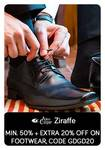 Tatacliq : Get minimum 50% + extra 20% off on footwear.