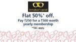 50% off on Lenskart gold membership