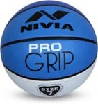 Nivia Pro Grip Basketball - Size: 7  (Pack of 1, White, Blue)