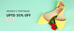 Shoppersstop : Upto 50% off on women's footwear.