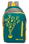 Chris & Kate Polyester 27 Ltr Green-Grey School Bag