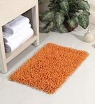 Orange Cotton 24 x 16 Inch Chevy Bath Mat by HomeFurry