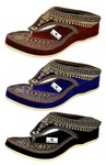 That's Choice Woman and Girls Ethnic Fashion Sandal Slipper (Pack of 3)