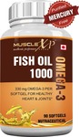 MuscleXP Fish Oil 1000 Omega 3-90 Softgels (Purified Free From Mercury)