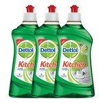 Dettol Kitchen Gel - 400 ml (Lime, Pack of 3)