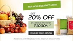 BigBasket: 20% off on New User & 8% off for Existing users (Offer only for TicketRestaurant  MealCard Users); Also Get a Chance to Win 250 Amazon Voucher