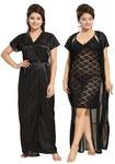 Noty 2 Pc Women's Hot Night Robe and Night Slip