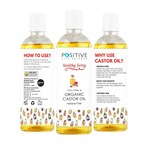 POSITVE Positive Castor oil for Hair & Beard Growth [200 ML] | Pure and Organic