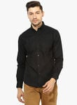 Red tape black solid regular fit casual shirt 5109 006987003 1 catalog s