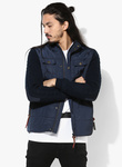 Pepe jeans navy blue solid quilted jacket 1235 2819672 1 pdp slider l