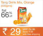 Sankalp Deal of the day Tang Drink Mix, Orange (500G) at Rs.29/-