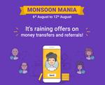 Phonepe Monsoon Mania - Send Money & Refer N Earn Offers | 6 - 12 August