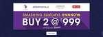 NNNow smashing sunday : Buy 2 at Rs 999