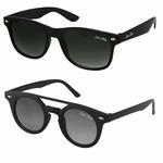 Silver Kartz UV Protected Men's Sunglasses(cm202|Medium|Black) - Combo Pack
