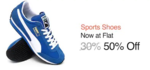 Sport Shoes Flash Sale - 50% - 80% Flat Off + 10% Cashback
