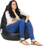 Can bean bags XL Bean Bag Cover (Without Beans)  (Black)