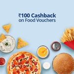 Flat Rs. 100 Cashback On Food & Beverage Vouchers At Paytm minimum 200