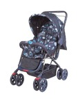 Mee Mee Baby Pram with Adjustable Seating Positions and Rotating Wheels with Brakes (Blue)