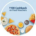 100rs Cashback On 200rs voucher ( kfc, pizza hut & more Vouchers) All users.