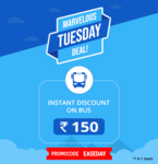 Get up to Rs. 150 instant discount on bus tickets for all major bus routes