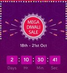 Snapdeal Mega Diwali Sale : Get 10% discount with SBI cards and 15% discount with RBL cards