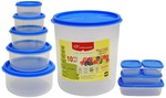 Princeware SF Package Container Set, 10-Pieces, Blue for 165