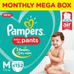 Pants diapers monthly box pack new m 152 pampers original imaf9gfjprdvwmdd
