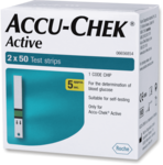 Accu-Chek Active 100 (50x2) Test Strips, LOWEST PRICE IN THE MARKET
