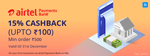 15% cashback upto a Max of Rs.100 Via Airtel Payments Bank on Niki.ai