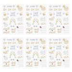 6 Sheets Waterproof Bachelorette Tattoo Stickers Team Bride Tattoos Body Arm Art Temporary Gold and Silver Metallic Tattoos For Single Party Favors (VT416)