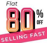 Minimum 80% Off Store: 31 Categories + Extra 10% Off only for Today + 10% Off with SBI Debit Cards