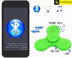 Zest 4 Toyz Rechargeable Bluetooth Fidget Hand Spinner with LED Lights and Music