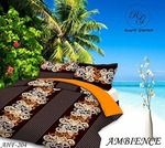 GoHome 140 TC Polycotton Double Bedsheet with 2 Pillow Covers - Orange