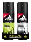 Adidas Dynamic Pulse & Pure Game Deodorant Body Spray Combo (Pack of 2), 150ml At 190