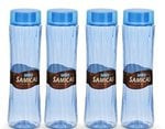 Steelo Plastic Water Bottle, 1 Litre, Set of 4, Colour May Vary (SAMI10004TBL)