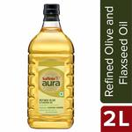 chk post (MORE AT 40% OFF)Saffola Aura Refined Olive and Flaxseed Oil, 2L