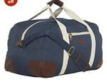 BagsRUs Polyester 30.505399999999998 cms Navy Blue Travel Duffle (DF112FNB)