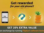 Flipkart Mobile: Get 20% Extra Value on Exchange by running Flipkart Software tests