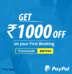 Get Instant 600 Cashback on flight Ticket from paypal on Ease My trip & u can Use any other discount Code with this also.