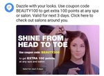 Magicpin:Flat 100 Points on No Min amt of bill Upload on Salons And Spa (Verified)