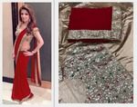 Saree Red Silver Party Wear with Blouse Piece(1 left)