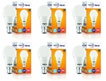Wipro Garnet Base B22 9 Watt LED Bulb Pack of 6