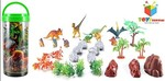 Toys Bhoomi Adventure Planet Dinosaur Set with Carrying Case