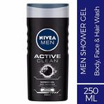 Nivea Men Active Clean Shower Gel, 250ml (save with subscribe n save offer)