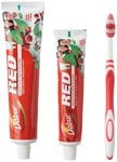 [pantry]Dabur Red Ayurvedic Paste - Complete Dental Care - 200g+100g with free Binaca Tooth Brush worth Rs 21